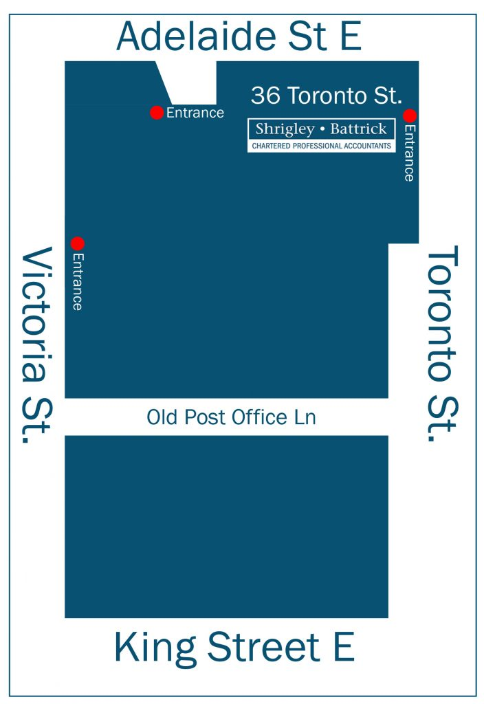 Shrigley Battrick Chartered Professional Accountants MAP