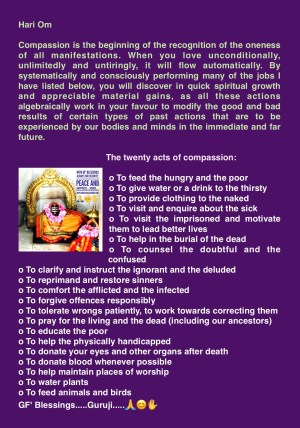 The twenty acts of compassion