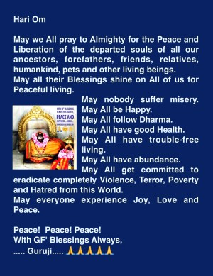 Mahalaya Peace Prayer