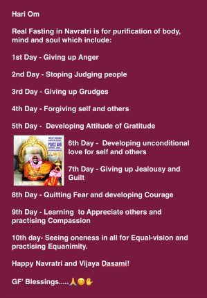 Real Fasting in NavrAtri