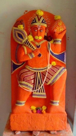 Why Lord Hanumanji is seen most often in red?