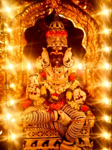 Sri Lalithambigai of Thirumaichur with Muthangi (Coat of pearls)