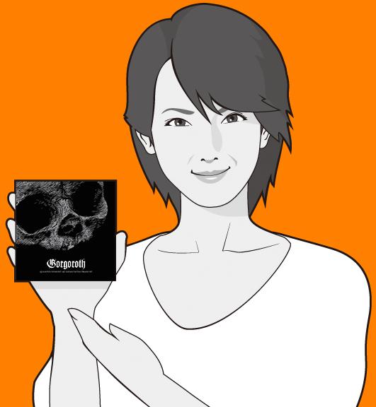 女優吉瀬美智子の似顔絵