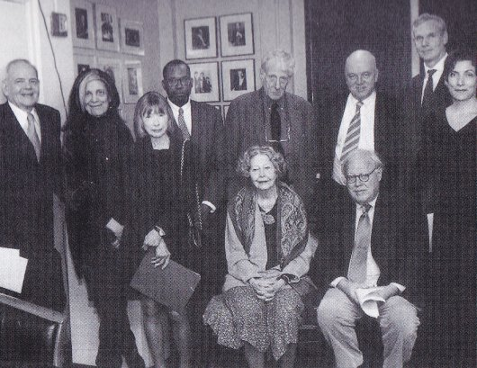 partisan review      Shrine of Dreams 25th anniversary of the NYRB  Left to right  standing  Robert Silver  Susan
