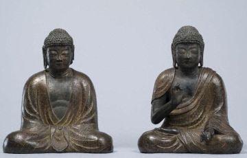 銅造釈迦多宝如来坐像