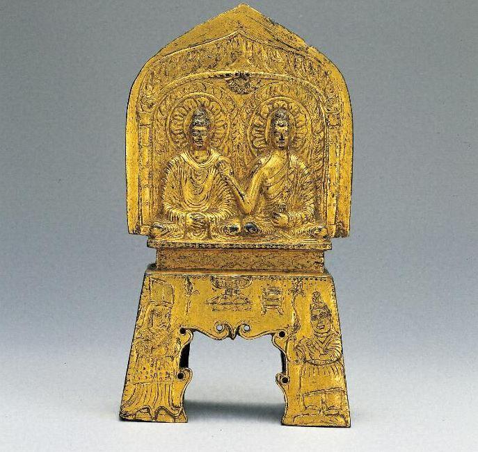銅造〈釈迦如来/多宝如来〉並坐像
