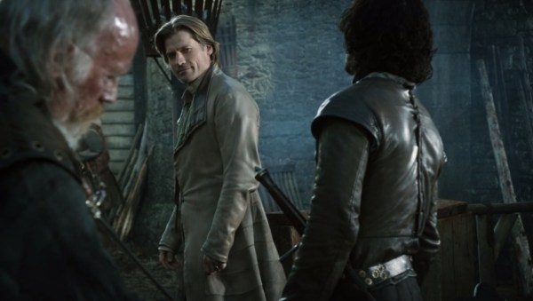 Nicolaj Coster-Waldau sleeves Jaime Lannister Game of Thrones screencaps coat
