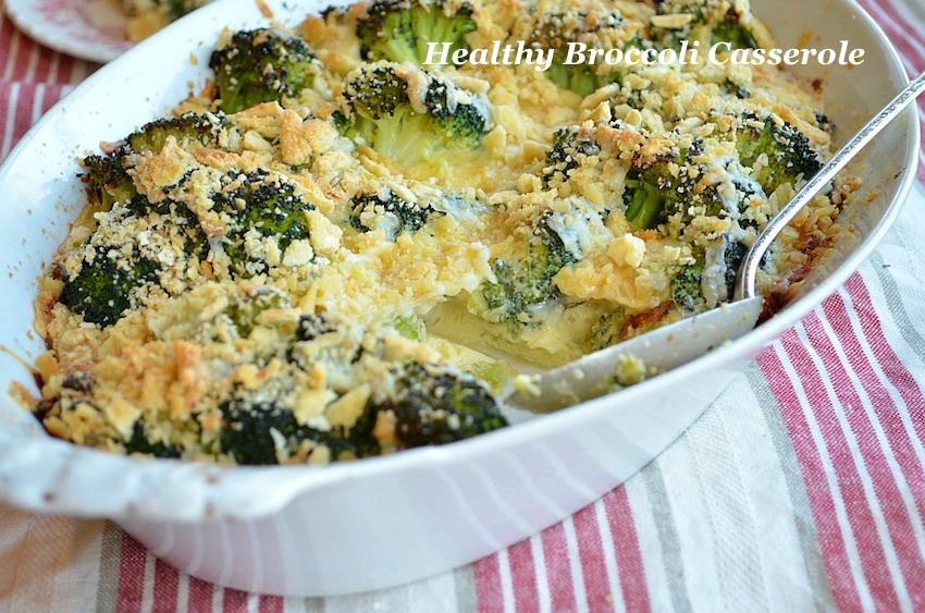 Creamy Cream-Less Broccoli Casserole