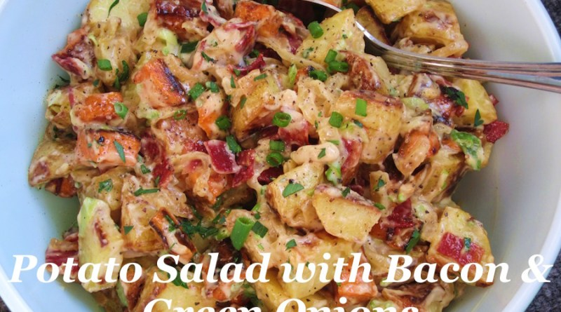 Roasted Potato Salad with Green Onions