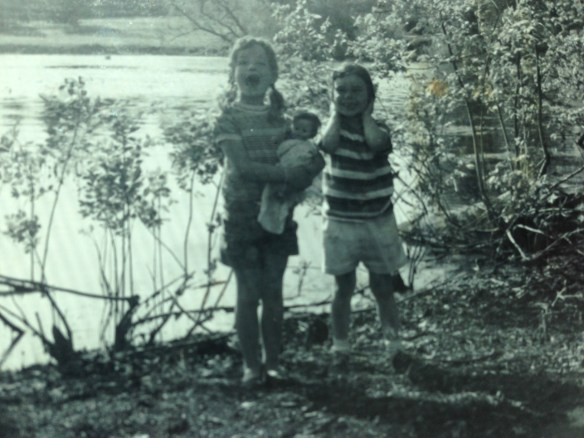 Me and Nancy at Concord Bridge (MA), June 1961