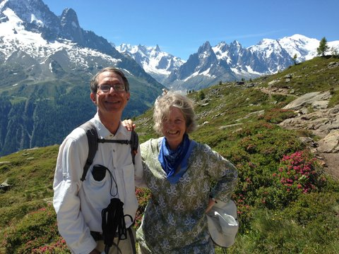 Jonathan and Lorrie, Tour du Mont Blanc 2015