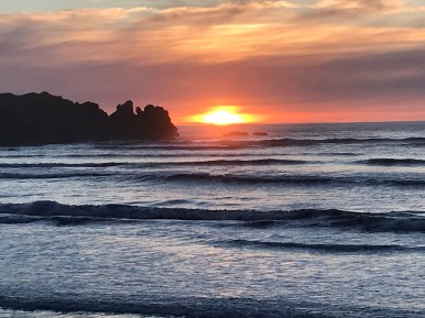 Punakaiki sunset