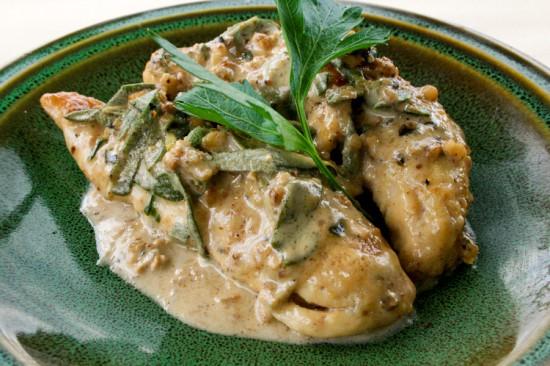 Sauteed Chicken with white wine garlic & herbs