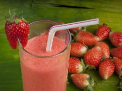 Strawberry Cucumber Tea slushy