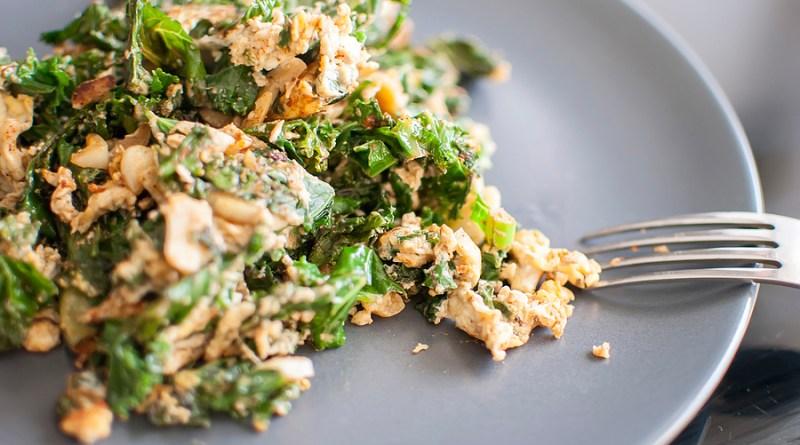 Kale Eggs Healthy Breakfast