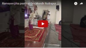 Ramayan ji ka paath at Om Mandir Rudrapur