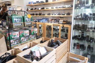 Vintage cameras and camera bags