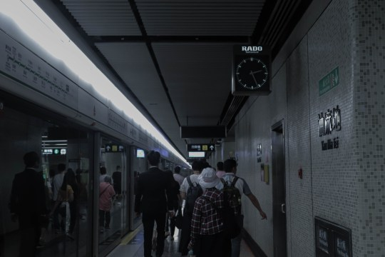 Today's Yau Ma Tei Station with citizens hustling and bustling. Credit: Ellen Han