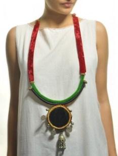 Temple Mirror Necklace