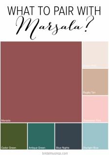 Colours Marsala