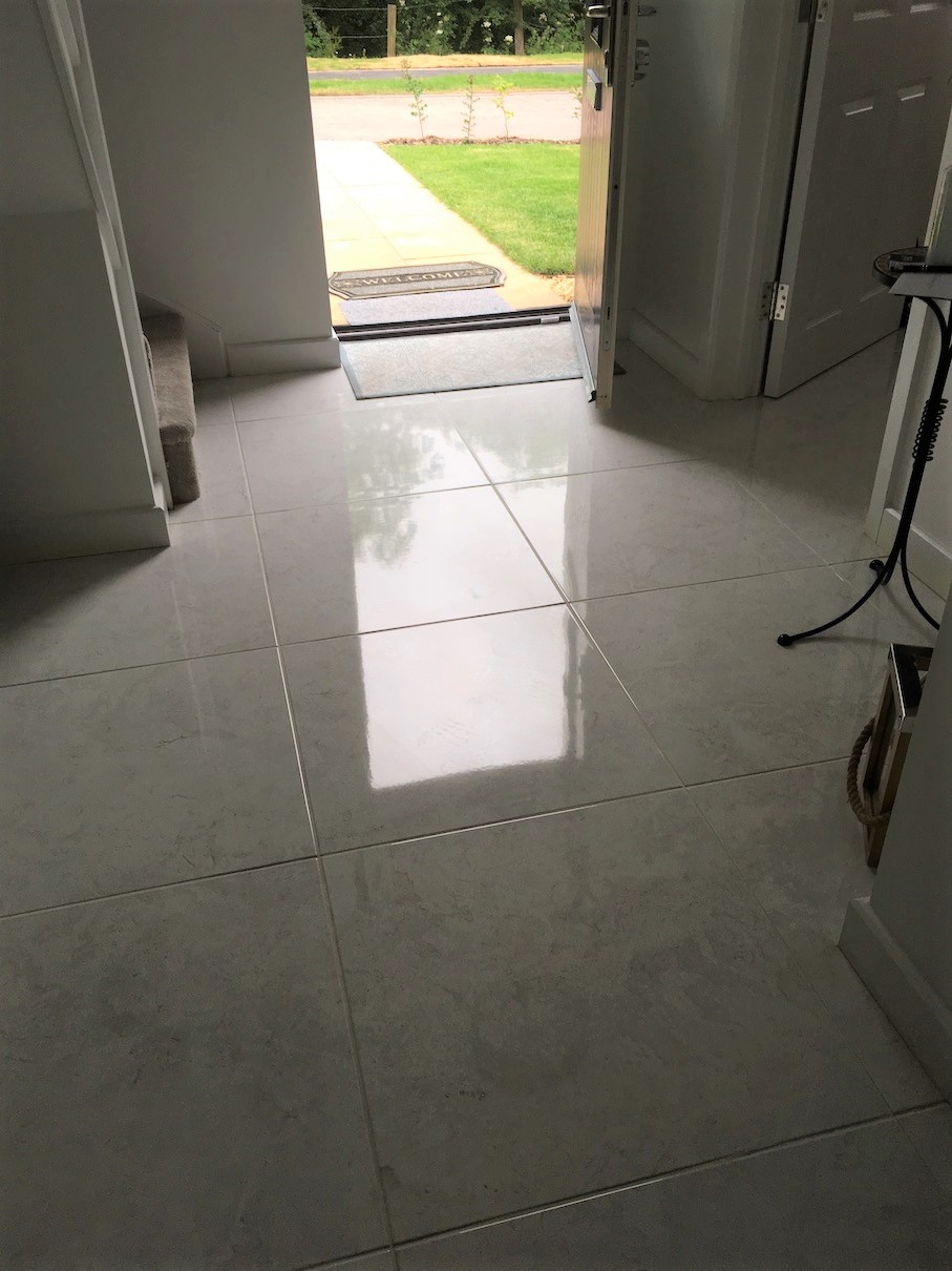 epoxy grout haze removed from new
