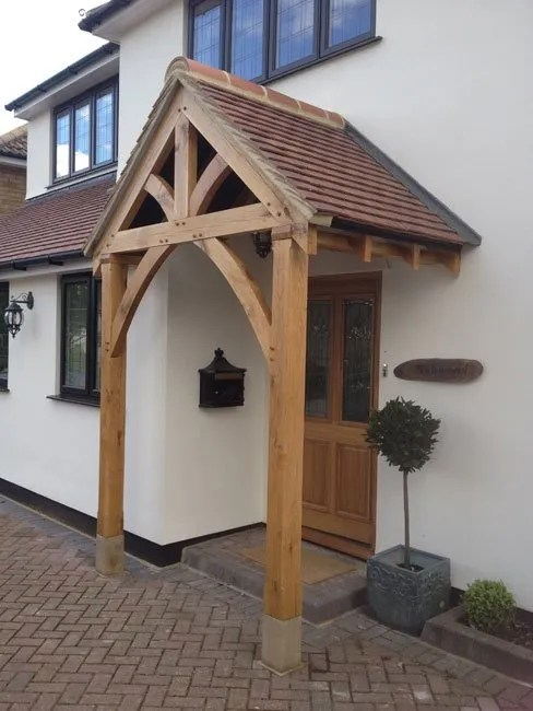 grosvenor-oak-porch-1 & Shropshire Door Canopies - Top Quality Handmade Porches and Door ...