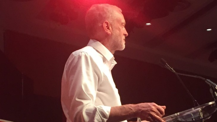 Jeremy Corbyn in action