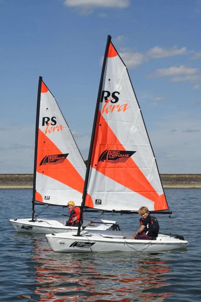 Geroge Avison and Herbie Harmer set sail thanks to Eric Twiname Trust