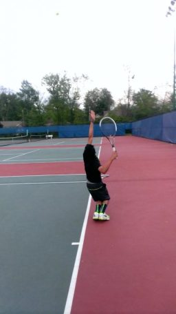 Among+the+players+trying+out+for+a+spring+sport+is+sophomore+tennis+player%2C+Neil+Yejjey.+When+Yejjey+is+on+the+courts%2C+he+prefers+playing+in+singles.+He+hopes+to+be+on+varsity.+Photo+Courtesy+of+Neil+Yejjey