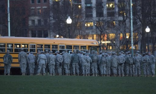 National Guard Staging Area