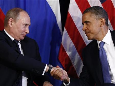 U.S. President Barack Obama meets with Russian President Putin