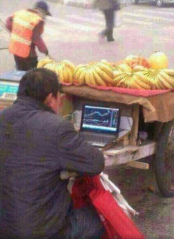 Banana Seller Invests In Chinese Stock Market