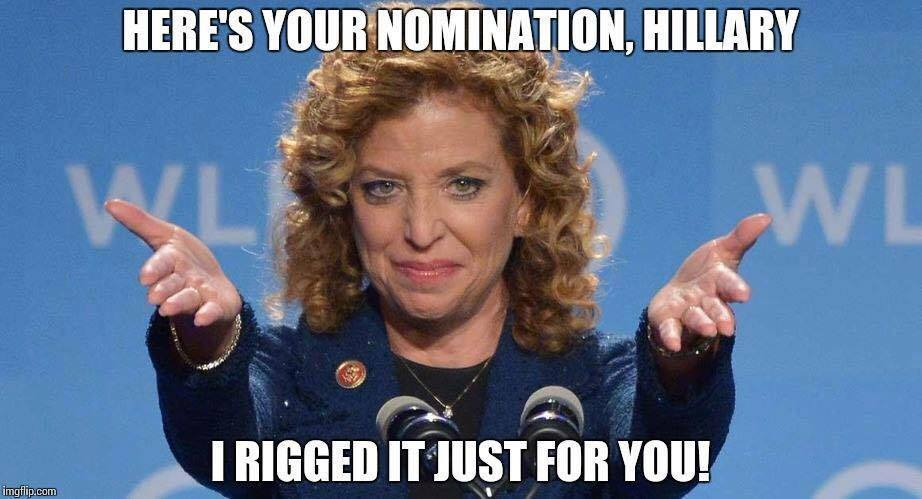Image result for hillary wasserman schultz meme