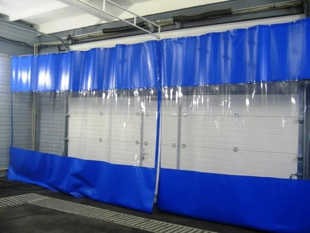 Пластиковые шторы автомойка