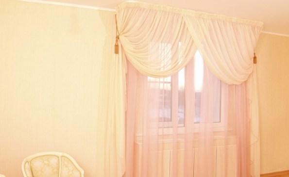 Нежные шторы из вуали