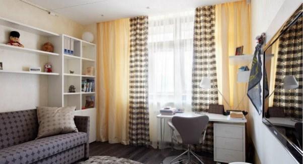 Шторы для маленькой комнаты