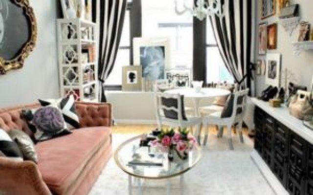 Черно-белые шторы фото
