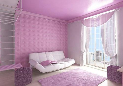 Подбор цвета штор к обоям розового цвета – фото идеи