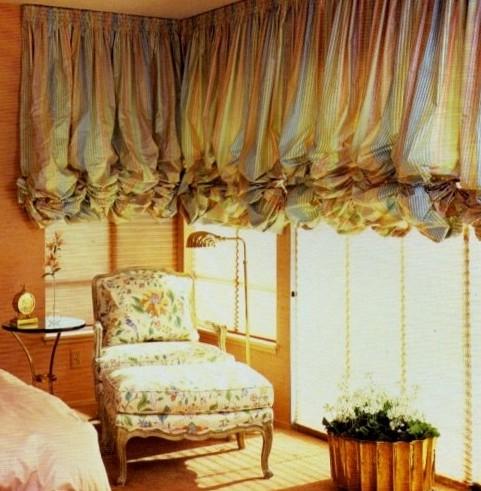 Австрийские шторы - как выбирать и шить, фото примеры