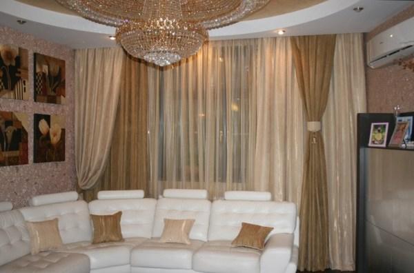 Шторы в гостиную в современном стиле, модный дизайн для зала