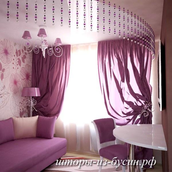 Как красиво повесить свисающие нитяные шторы