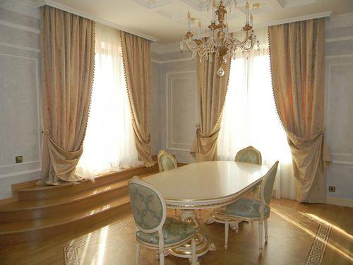 Как выбрать шторы классика для интерьера: на кухню, в зал ...