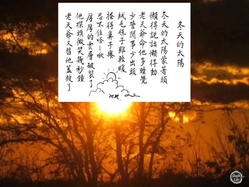 winter sun light poetry