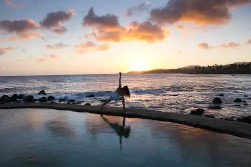yoga seaside