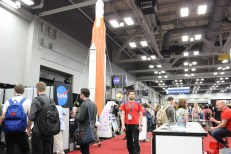 NASA's popular and large booth at the SXSW Trade Show / Photo by Dana Summers