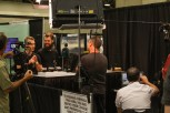 An infomercial being filmed live at Coffee Fest.