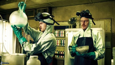 "Bryan Cranston and Aaron Paul star in ""Breaking Bad."" Photo courtesy of flickeringmyth.com."