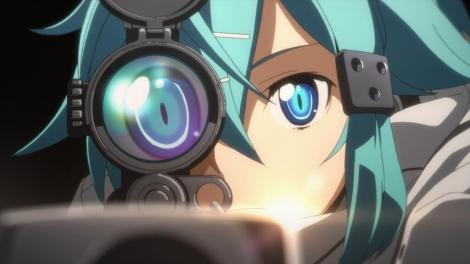 "Sinon prepares to aim in ""Sword Art Online II."" Photo courtesy of videogamefilms.com."