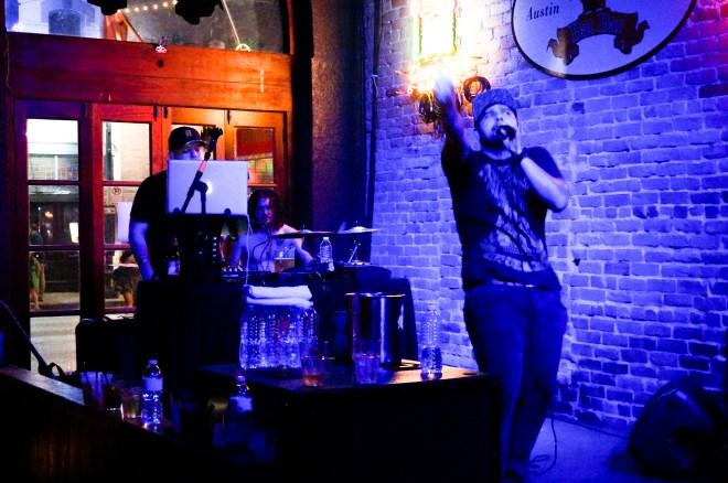 Gobi lead singer, Justin Dillon, performs at Bat Bar Thursday Oct. 9.