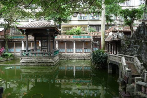 A pond at Lin Family Mansion and Garden. Photo by ChinLin Pan